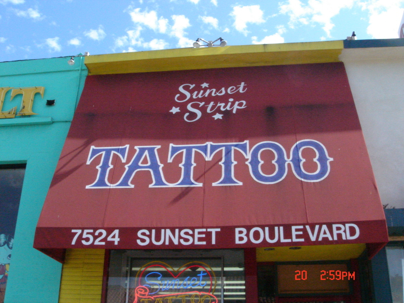 Not Far From The House Of Blues Is Where Sunset Strip Tattoo Used To Be Located At  Sunset Boulevard The Crue Had Many Many Tattoos Inked Here Over
